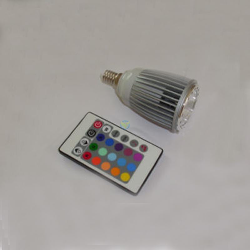 Led rgb farbwechsel highpower spot 5w e14 fb musikgesteuert for Led farbwechsel
