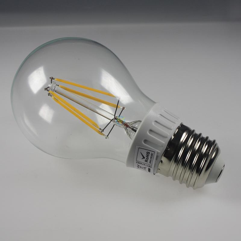 led e27 leuchtmittel in der lichtfarbe warmwei mit klarglas cob led. Black Bedroom Furniture Sets. Home Design Ideas