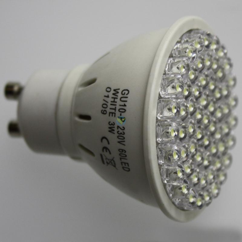 LED Strahler GU10 60 High Lumen LEDs 3W Warmweiß