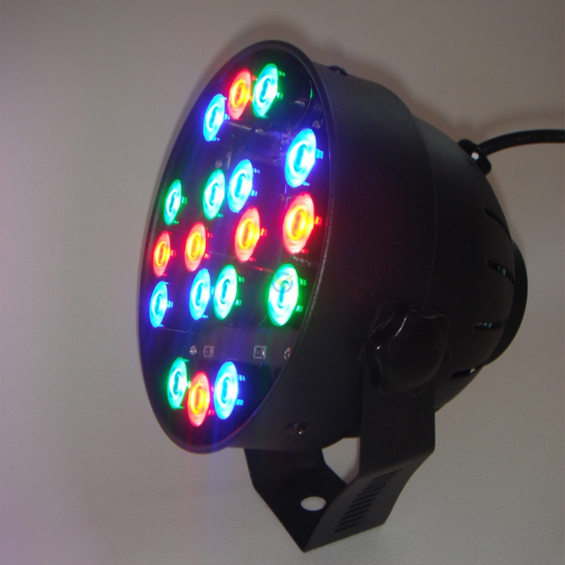 led par56 mini fluter 18 x 1w cree led rgb farbwechsel mit dmx anschl. Black Bedroom Furniture Sets. Home Design Ideas