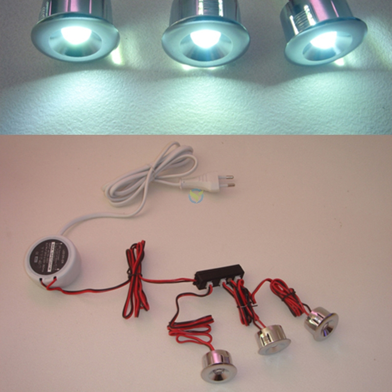 5er LED Einbauspot Einbau Strahler Spot Decke Wand 5W weiss/warmweiss