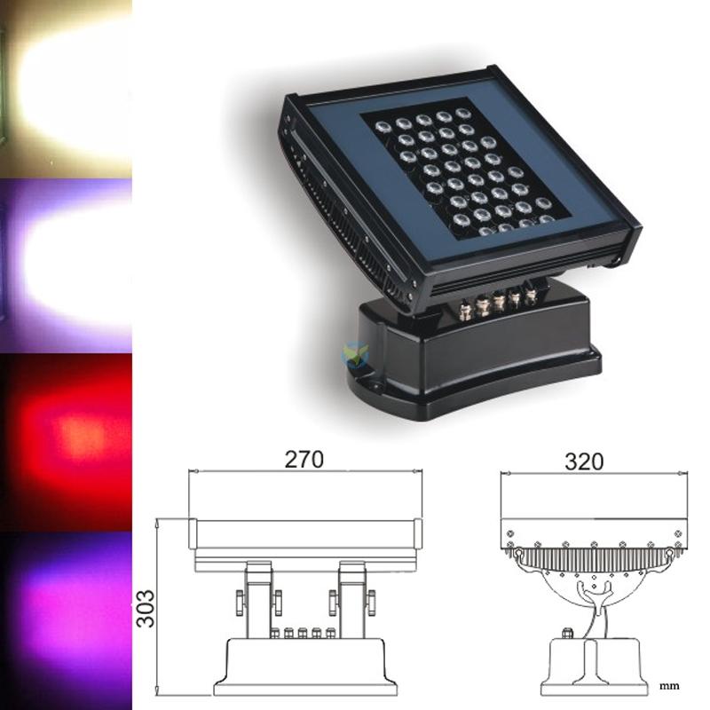 led fluter 36x 3w cree rgb farbwechsel mit dmx 3 watt led. Black Bedroom Furniture Sets. Home Design Ideas
