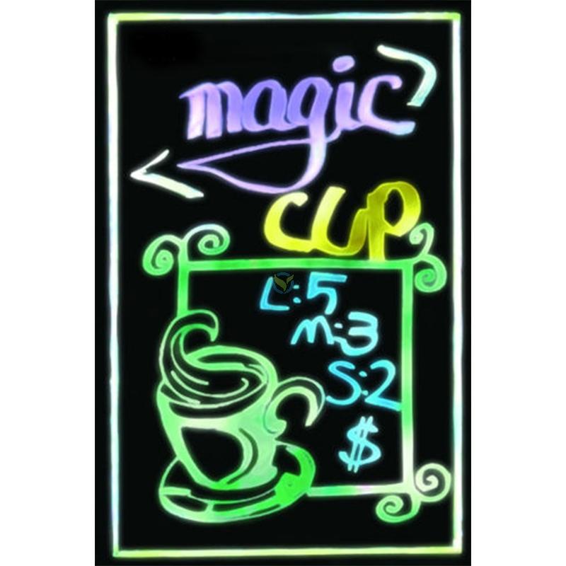 LED Neon Reklame Werbe Tafel Brett Board 60 x 80cm