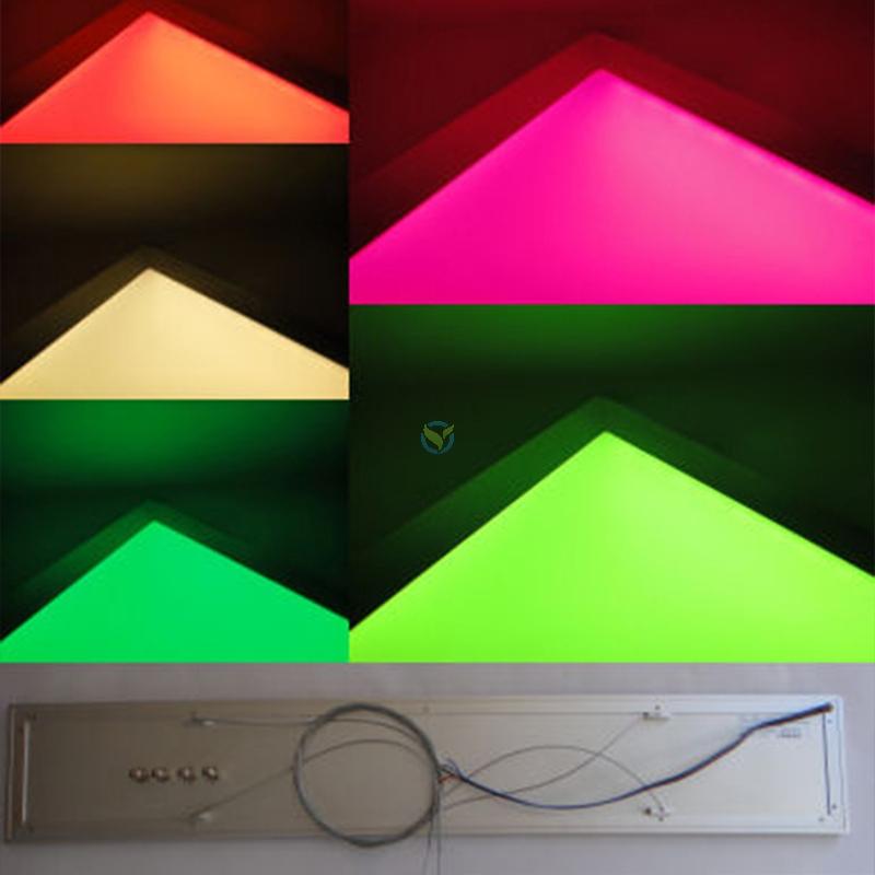 LED Panel Wandleuchte Deckenleuchte RGB Farbwechsler + FB Set Var. 2 15x90