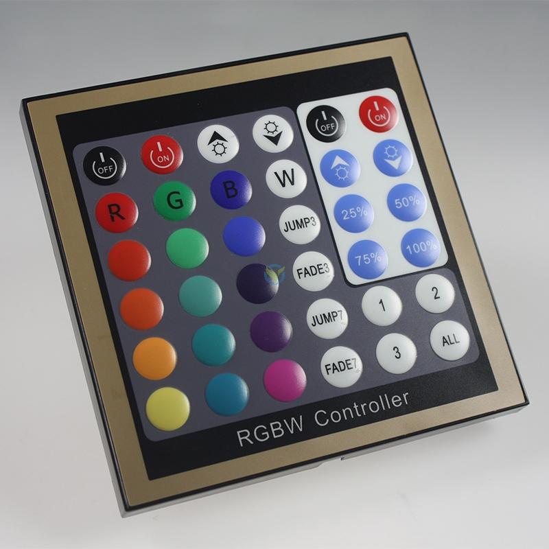 LED RGBWW Tasten Panel Einbau Steuergerät Unterputz 12-24 Volt