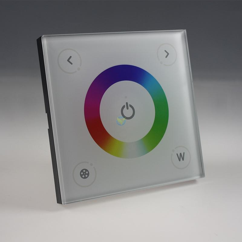 LED RGBWW Touch Panel Einbau Steuergerät weiß Unterputz 12-24 Volt