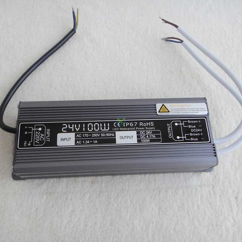 Wetterfestes Netzteil Einbaunetzteil 24 Volt DC Gleichstrom 4,17A ca. 100W