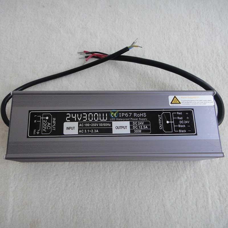 Wetterfestes Netzteil Einbaunetzteil 24 Volt DC Gleichstrom 12,5A ca. 300W