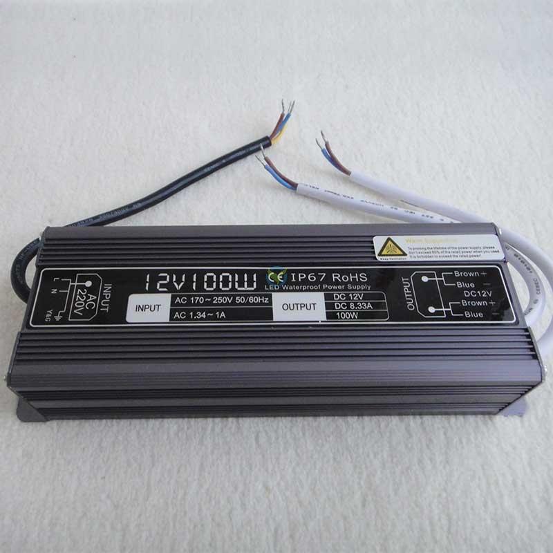 Wetterfestes Netzteil Einbaunetzteil 12 Volt DC Gleichstrom 8,33A ca. 100W