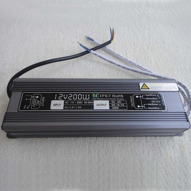 Wetterfestes Netzteil Einbaunetzteil 12 Volt DC Gleichstrom 16,7A ca. 200 Watt