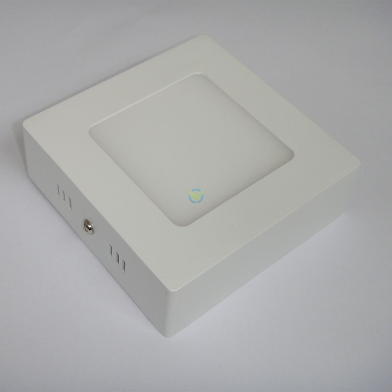 LED eckige Aufbauleuchte Panel warmweiß weißer Rahmen mit Trafo 6 Watt
