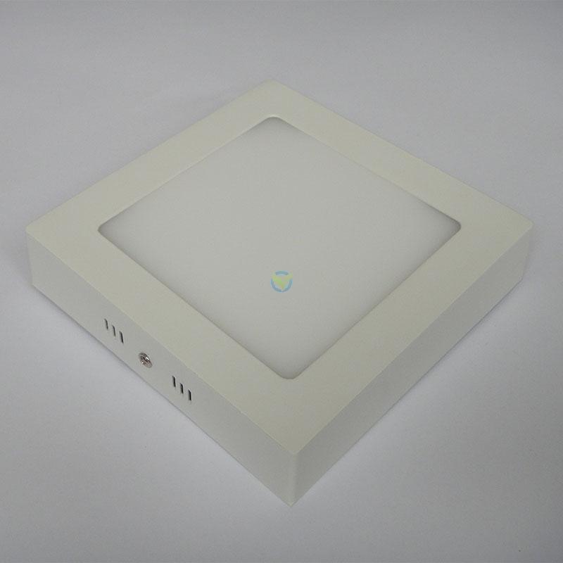 LED eckige Aufbauleuchte Panel warmweiß weißer Rahmen mit Trafo 12 Watt
