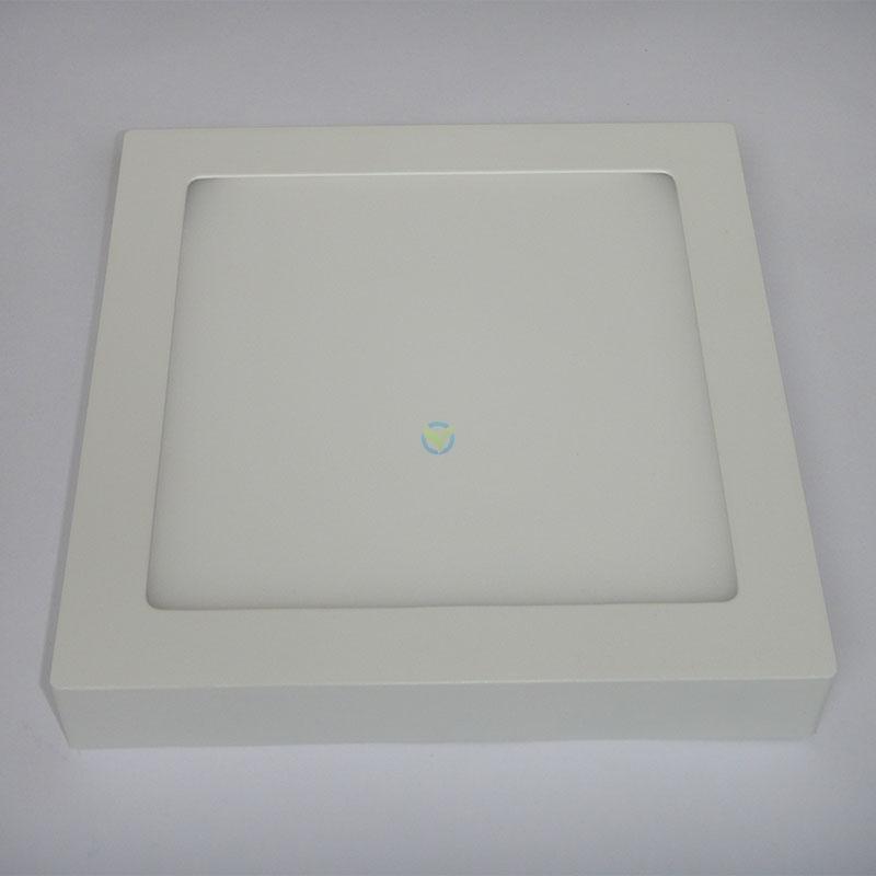 LED eckige Aufbauleuchte Panel warmweiß weißer Rahmen mit Trafo 18 Watt