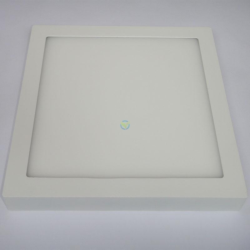 LED eckige Aufbauleuchte Panel warmweiß weißer Rahmen mit Trafo 24 Watt