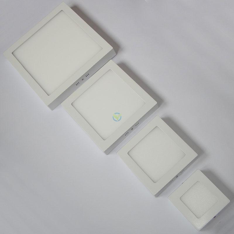 LED eckige Aufbauleuchte Panel warmweiß weißer Rahmen mit Trafo