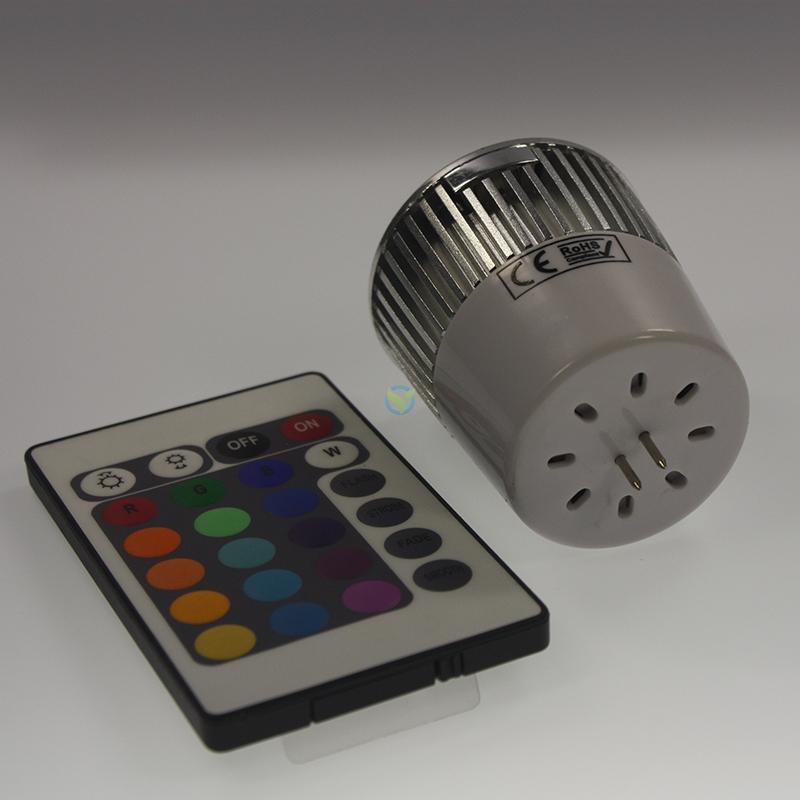 LED RGB Farbwechsel Highpower Strahler 12V 5W MR16 +FB