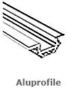 LED Aluprofile f�r LED Lichtband