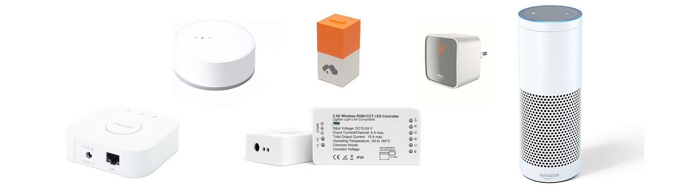 ZigBee kompatibel, gestestet unter anderem mit Hue Lightify Tradfri Homee und Amazon Echo Plus