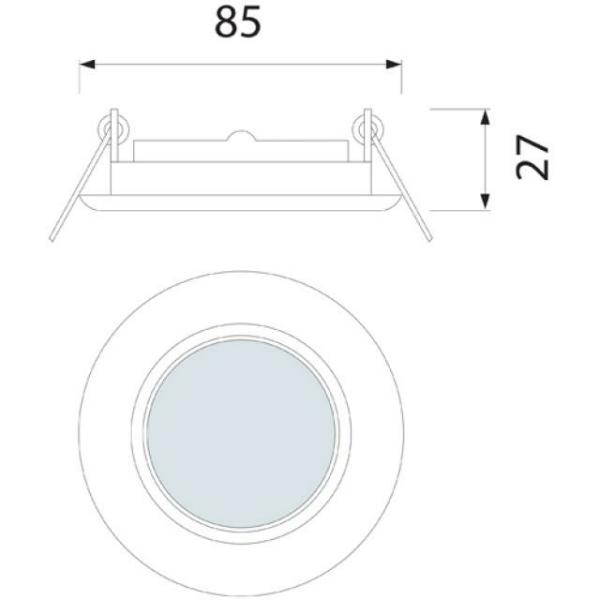 Einbaurahmen GU10/MR16 passend für Artikel 4140 matt gebürstet