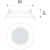 Einbaurahmen GU10/MR16 passend für Artikel 4140 matt...