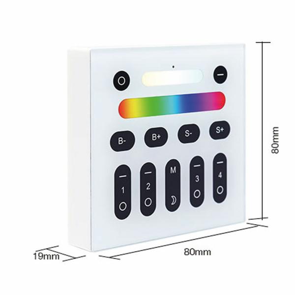 2 4g wandschalter rgb rgbw beleuchtung milight kompatibel for Koch 4 kanal led funkfernsteuerung
