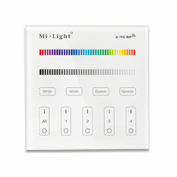 2.4G Wandschalter für RGBWW Beleuchtung 4-Kanal MiLight kompatibel