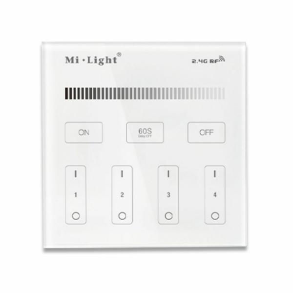 Milight 2.4G Wandschalter Dimmer LED Beleuchtung 4-Kanal 230V T1