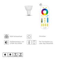LED Gu10 Leuchtmittel Spot RGB+CCT Mr5,3