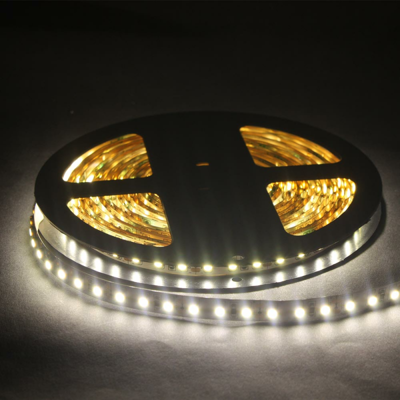 led lichtband 120 led m 5m strip 9 6w m mit 12vdc 3528 smd. Black Bedroom Furniture Sets. Home Design Ideas