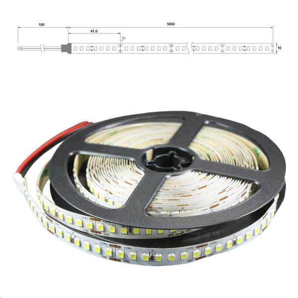 LED Lichtband 168 LED/M 5m Strip 21W/M mit 24VDC 2835 SMD 2700 Kelvin