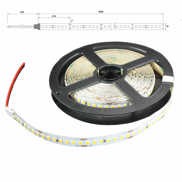LED Lichtband 168 LED/M 5m Strip 21W/M mit 24VDC 2835 SMD 2400 Kelvin