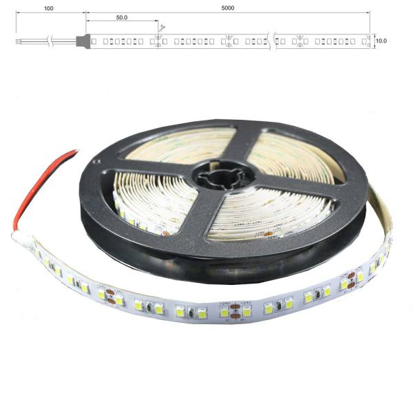 IP65 LED Lichtband 120 LED/m 5m Strip 18W/m mit 24VDC 2835 SMD