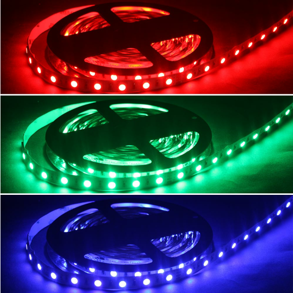 RGB LED SMD 5050 Stripe Flexband Lichtband Band 60 LED/m 24 VDC IP65