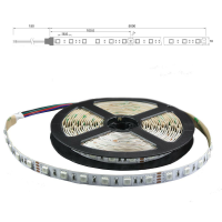 RGB LED SMD 5050 Stripe Flexband Lichtband Band 60 LED/m...