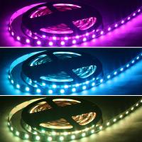 RGB LED SMD 5050 Stripe Flexband Lichtband Band 60 LED/m 24 VDC IP65