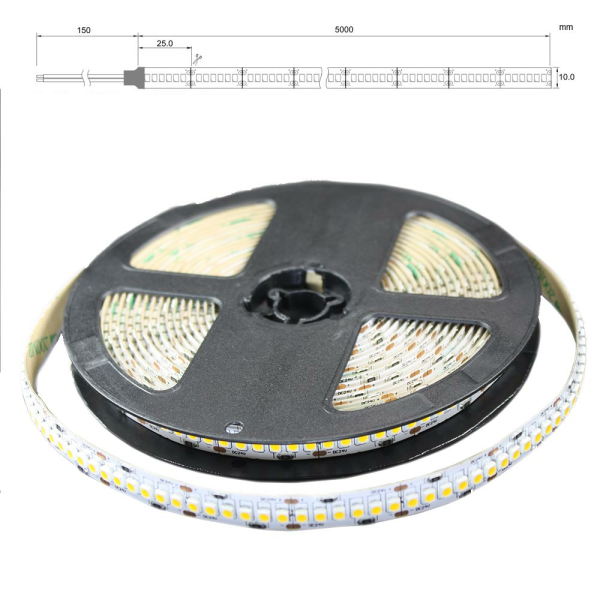 LED Lichtband 240 LED/M 5m Strip 19,2W/M mit 24VDC 3528 SMD IP65