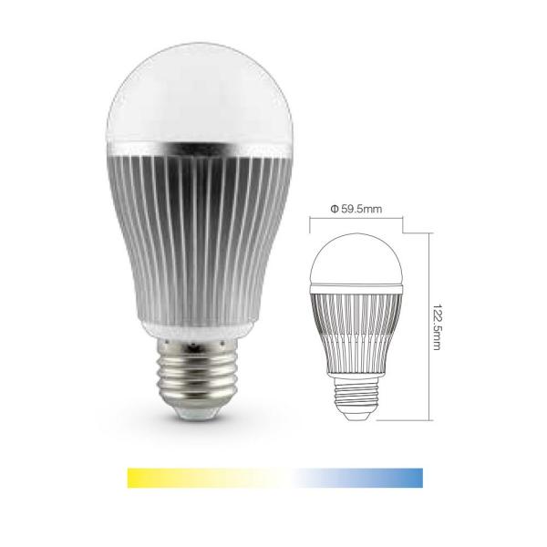 LED E27  CCT Leuchtmittel Farb Temperaturwechsel warmweiß zu Tageslichtweiß