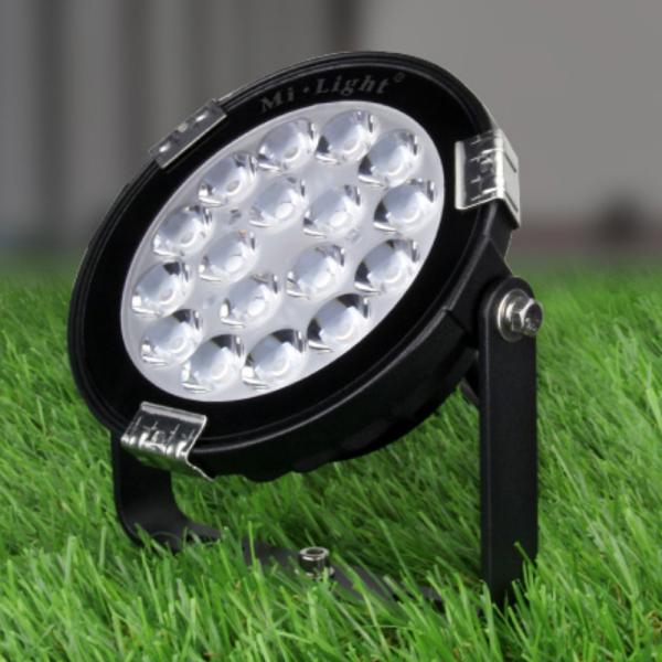 LED Gartenstrahler MiLight kompatibel Außenstrahler RGB CCT Auto Synchronisation mit Erdpieß