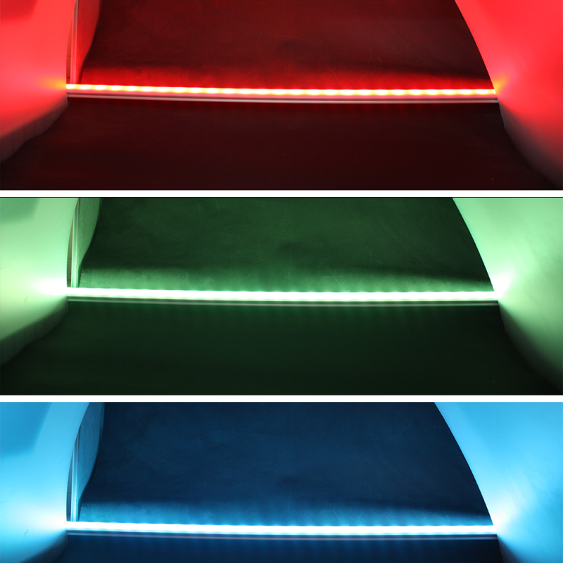 led lichtleiste f r den aussenbereich rgb ww 24vdc. Black Bedroom Furniture Sets. Home Design Ideas