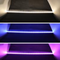 1m LED Leiste RGBWW Farbwechsel + Warmweiß SMD5050 Alu Leiste Strip IP65 24V