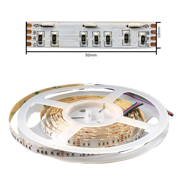 LED Stripe Band Sideview seitlich abstrahlend RGB mit SMD020 3in1 60 LED/m