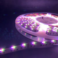 LED Stripe Band Sideview seitlich abstrahlend RGB mit SMD020 3in1 60 LED/m IP20