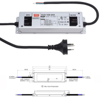 Mean Well ELG Serie Netzteil LED-Trafo IP65 Konstantspannung