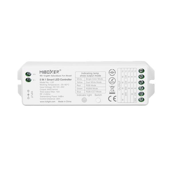 5in1 LED Controller LS2 MiLight für 8 Zonen Lichtkreis System