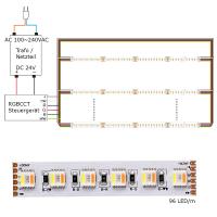 LED Lichtband RGB+CCT RGBWW Farbwechsel mit CCT W/WW 5in1 Chip Stripe IP65