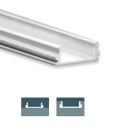 2m Aufbauprofil, ultraflach für maximal 12mm LED...
