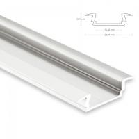2m Einbauprofil, flach für maximal 12mm LED...