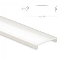 2m Aluschiene Aluprofil Aufbau 45° Eckleiste für maximal 12mm LED Lichtband
