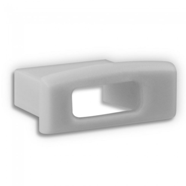 Endkappe für Aluprofil G-PO15 Flach - Kabelzugang