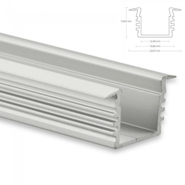 LED EINBAU-Profil 200 cm Aluschiene Hoch / Flügel Lichtband max. 12mm